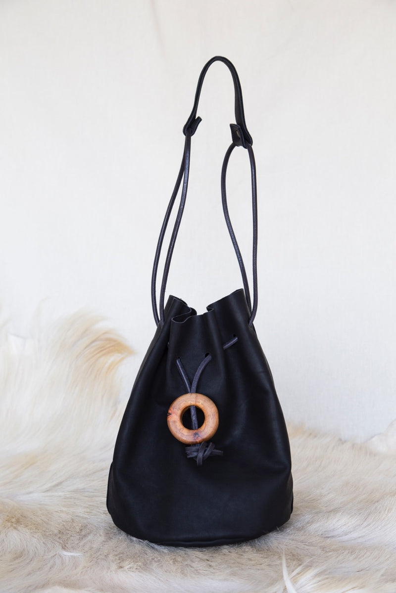 Plum Bucket Bag - HONESTA