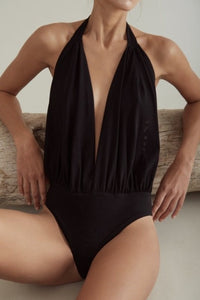 Niko Hip Black Bodysuit