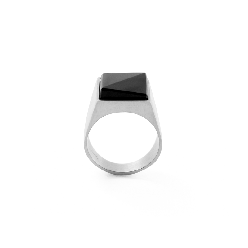 Anillo Black Solid - HONESTA