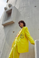 Blazer Recibo Oversized Amarillo - HONESTA