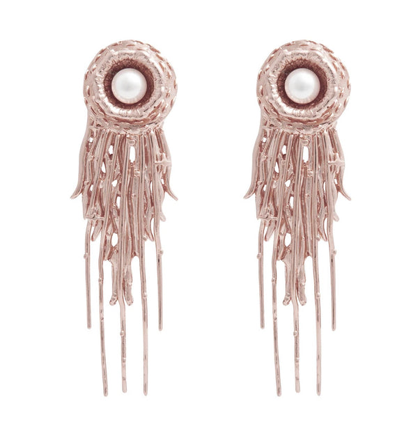 Aretes Shimmering Light Rose Gold - HONESTA