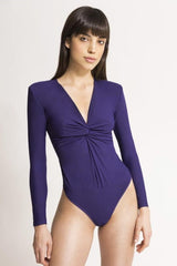 Marissa Plum Bodysuit - HONESTA