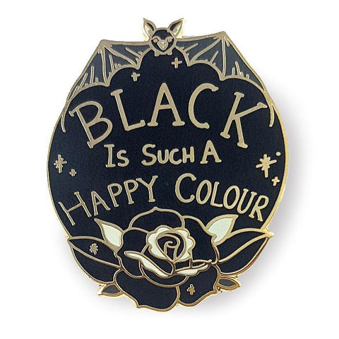 JUBLY UMPH - BLACK IS SUCH A HAPPY COLOUR LAPEL PIN