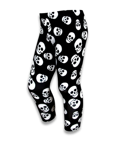 SIX BUNNIES Polka Skulls Children's Leggings