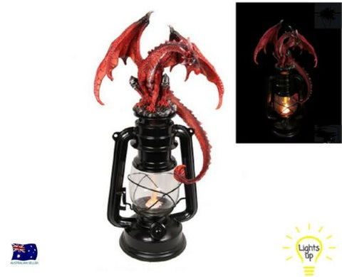 RED FIRE DRAGON ON LANTERN