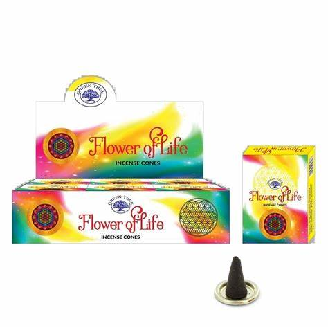 GREEN TREE - Flower of Life incense cones