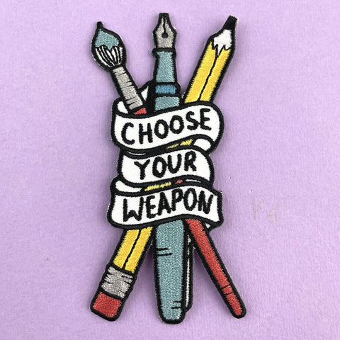 JUBLY UMPH - CHOOSE YOUR WEAPON EMBROIDERED PATCH