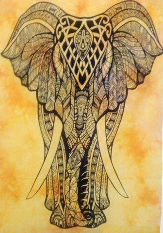 TAPESTRY - COTTON ELEPHANT 100X75CM