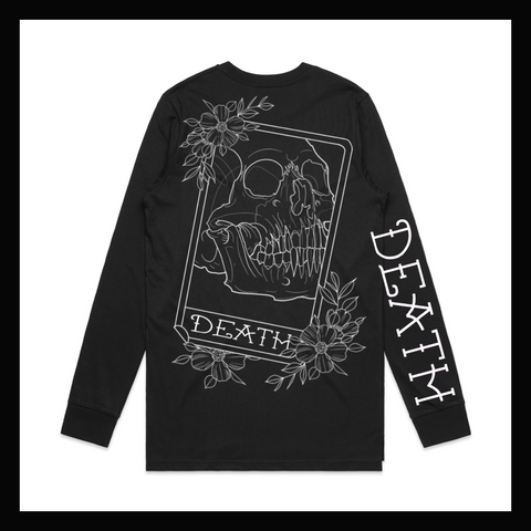 Skulled Clothing - Death Card long sleeve tee