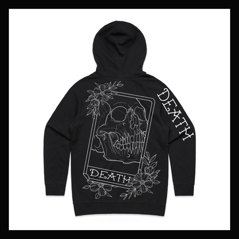 Skulled Clothing - Death Card zip hoodie