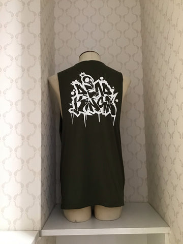 DEAD KINGS COLLECTIVE ARMY GREEN GRAFFITI TANK