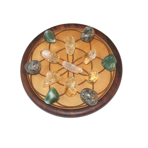 WOOD CRYSTAL GRID - PROSPERITY