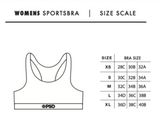 PSD - Green Red Gold – Sports Bra