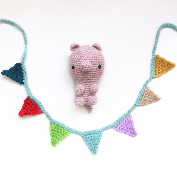 Vegan Christmas Pig In Blanket Crochet Kit