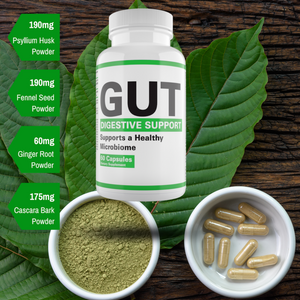 GUT Digestive Support - De-bloat Powerful Cleanse Formula-Supports A Healthy Microbiome-Aids in Digestion
