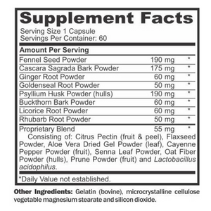 GUT Digestive Support Nutritional Information