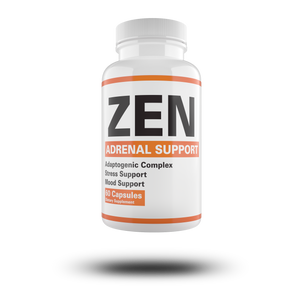 ZEN Adaptogenic Complex - Premium Adrenal Support Supplement & Cortisol Manager to Support Adrenal Fatigue, Cortisol Calm & Anxiety Relief with Ashwagandha Root, Panax ginseng, Astragalus Root , Rhodiola & Other Adaptogenic Herbs - 60 Day Supply