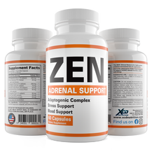 Load image into Gallery viewer, ZEN Adaptogenic Complex - Premium Adrenal Support Supplement & Cortisol Manager to Support Adrenal Fatigue, Cortisol Calm & Anxiety Relief with Ashwagandha Root, Panax ginseng, Astragalus Root , Rhodiola & Other Adaptogenic Herbs - 60 Day Supply