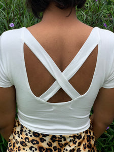 Crisscrossed Short Sleeve Bodysuit