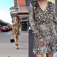 Cheetah Print Accordion Dres