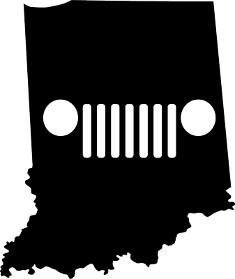 Indiana JEEP Grill Die Cut Vinyl Decal-Fun Fare Decals
