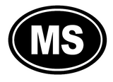 Mississippi Oval Die Cut Vinyl Decal