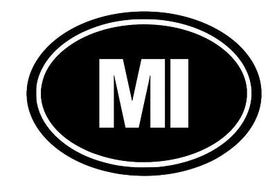 Michigan Oval Die Cut Vinyl Decal-Fun Fare Decals