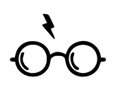 Harry Potter with Lightning bolt Vinyl Decal-Fun Fare Decals