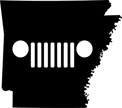 Arkansas JEEP Grill Die Cut Vinyl Decal-Fun Fare Decals