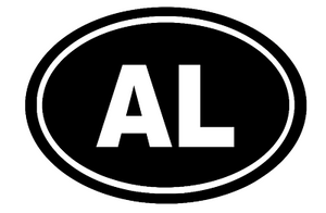 Alabama Oval Die Cut Vinyl Decal-Fun Fare Decals