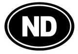 North Dakota Oval Die Cut Vinyl Decal-Fun Fare Decals