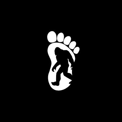 BIGFOOT in footprint Vinyl Decal-Fun Fare Decals