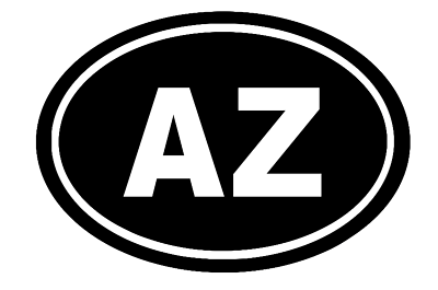 Arizona Oval Die Cut Vinyl Decal