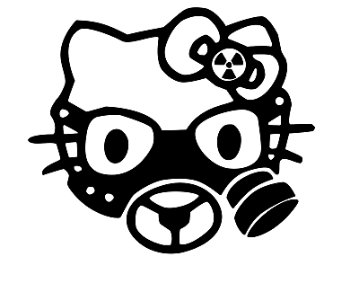 Hello Kitty Gas Mask Vinyl Decal-Fun Fare Decals