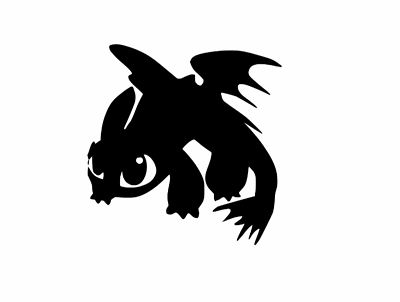 Toothless Dragon Vinyl Decal-Fun Fare Decals