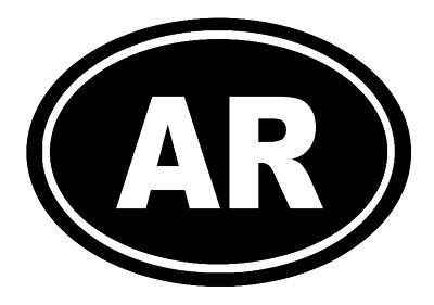 Arkansas Oval Die Cut Vinyl Decal
