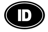 Idaho Oval Die Cut Vinyl Decal-Fun Fare Decals