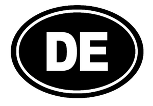Delaware Oval Die Cut Vinyl Decal-Fun Fare Decals