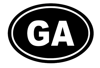 Georgia Oval Die Cut Vinyl Decal-Fun Fare Decals