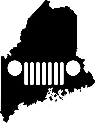 Maine JEEP Grill Die Cut Vinyl Decal