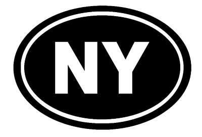 New York Oval Die Cut Vinyl Decal-Fun Fare Decals