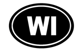 Wisconsin Oval Die Cut Vinyl Decal-Fun Fare Decals