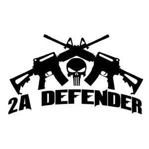 2nd Amendment Defender Vinyl Decal-Fun Fare Decals