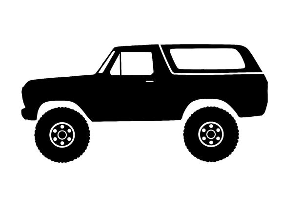 2nd Gen Ford Bronco 4×4 Vinyl Decal FD1052-Fun Fare Decals