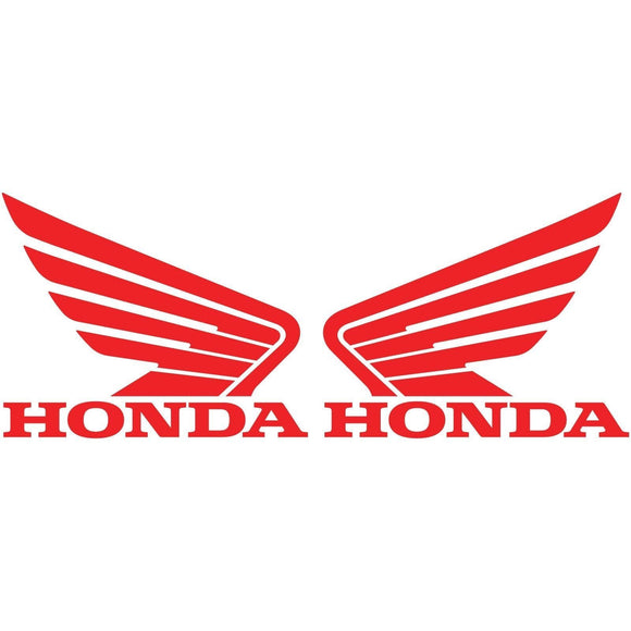 2x HONDA Wing Vinyl Decal