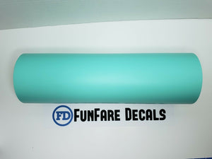 "Mint Oracal 631 12"" x 5ft. Roll Adhesive Backed Vinyl-Fun Fare Decals"