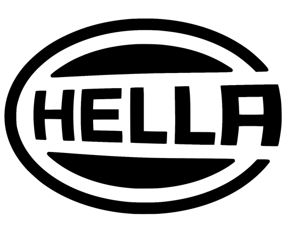 2x Hella logo die cut vinyl decal-Fun Fare Decals