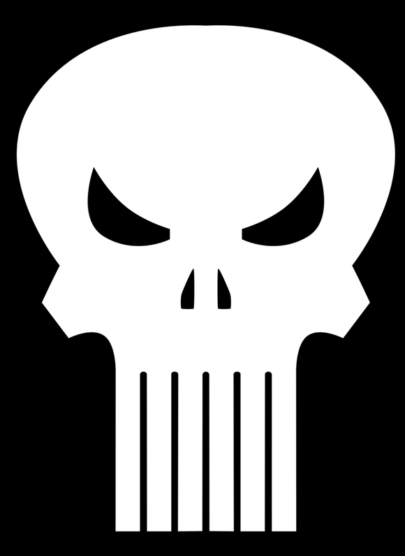 Retro Punisher Skull Logo Decal-Fun Fare Decals