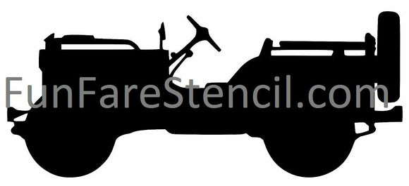 Jeep Willys Decal-Fun Fare Decals
