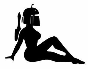 Star Wars Girl Boba Fett Sexy Sticker Vinyl Decal-Fun Fare Decals